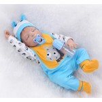 Силиконовая Коллекционная Кукла Реборн Reborn Мальчик Лео ( Виниловая Кукла ) Высота 57 см
