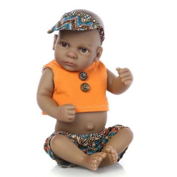 Силиконовая Коллекционная Кукла Реборн Reborn Мальчик Симба ( Виниловая Кукла ) Высота 28 См