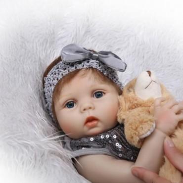 Силиконовая Коллекционная Кукла Реборн Reborn Девочка Эмма ( Виниловая Кукла ) Высота 57 См