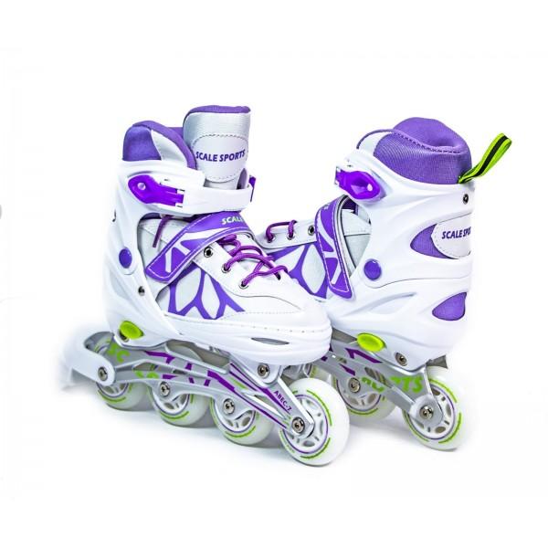 Ролики Scale Sports размер 34-37 White-Violet (LF 601A-M-1)