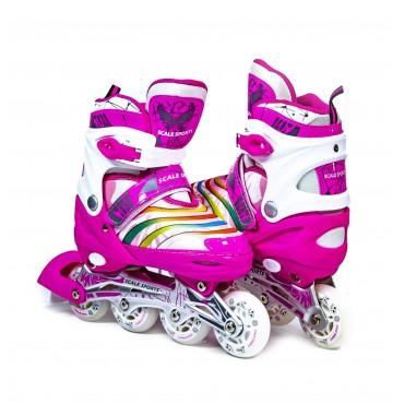 Ролики Scale Sports размер 34-37 Pink (LF 907M-M-2)