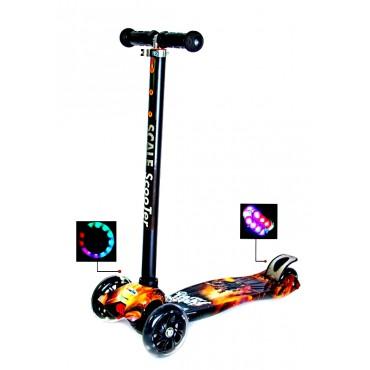 Детский Самокат со Светящимися Колёсами Scale Sports MAXI Battle (635432142)