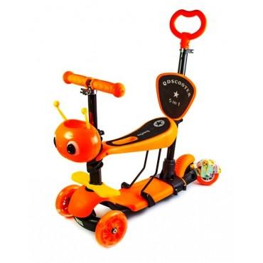 Музыкальный Самокат со Светящимися Колёсами Scale Sports Scooter Пчёлка 5in1 Orange (1505192968)