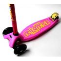 Детский Самокат со Светящимися Колёсами Scale Sports Maxi Micro Deluxe Pink (1454799581)