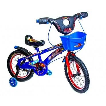 Велосипед Детский 16 Scale Sports Spiderman Red с Музыкой и Светом Blue (535763848)