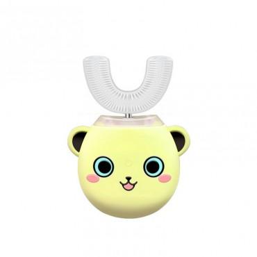 Умная Ультразвуковая Электрическая Зубная Щетка Капа с Автоматической Стерилизацией BeWhite Детская Желтая