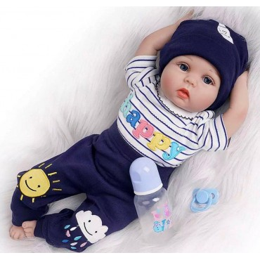 Силиконовая Коллекционная Кукла Реборн Reborn Мальчик Вовочка ( Виниловая Кукла ) Высота 55 см