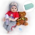 Силиконовая Коллекционная Кукла Реборн Reborn Мальчик Даня ( Виниловая Кукла ) Высота 55 см
