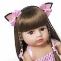 Силиконовая Коллекционная Кукла Реборн Reborn Девочка Моника ( Виниловая Кукла ) Высота 55 См